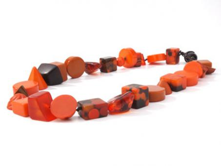 Kette Indiana kurz orange (Mix 109)
