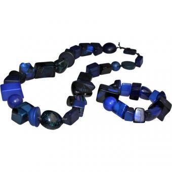 Schmuckset Azul dunkelblau Mix 117