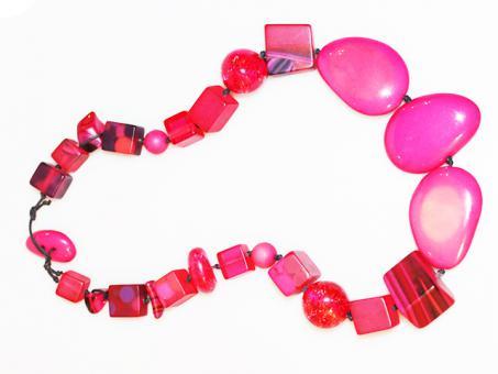 Halskette Indiana kurz pink 108