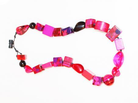 Halskette Aventuras pink Mix 108