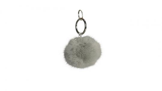 Echtfellanhänger mit Kashmir Perle light grey