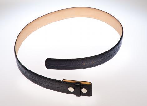 Ledergürtel dunkelblau 85 cm