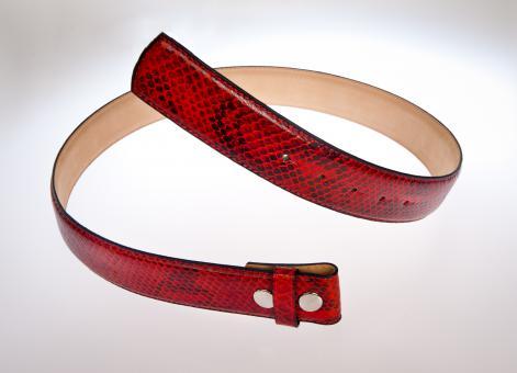 Ledergürtel  rot/schwarz 85 cm