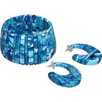 Schmuckset Tupinamba blau
