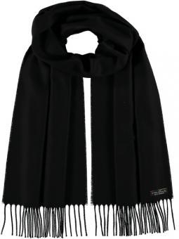 Cashmink-Schal mit Fransen schwarz