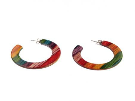 Teekri Ohrring Classico Hoops rainbow