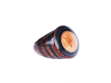 Teekri Ring Zeal Old Design Braun Gr.10